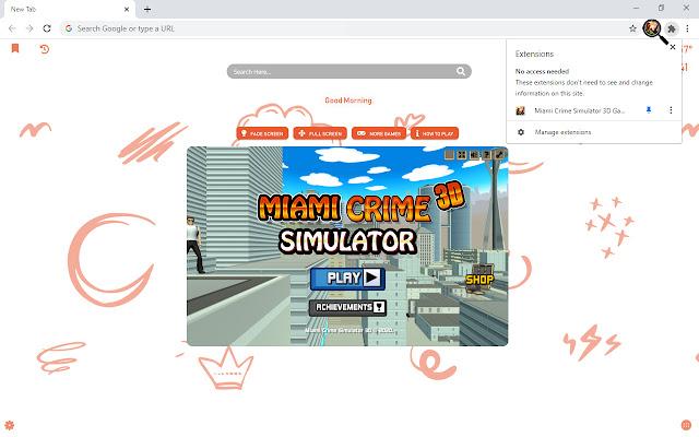 Miami Crime Simulator 3D Game New Tab