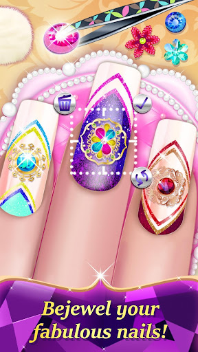 Code Triche Jeu de ongles salon: Manucure pour fille APK MOD screenshots 2