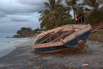 Photo: An old dhow on the beach at Maringanha