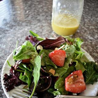 Spring Strawberry Salad with Orange Champagne Vinaigrette.