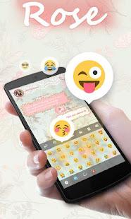Rose GO Keyboard Theme & Emoji Screenshot