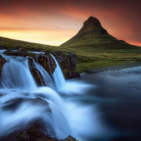 Synchronicity by José Ramos - Landscapes Mountains & Hills ( kirkjufell, iceland, mountain, waterfall, long exposure )