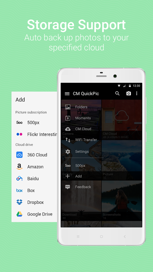 QuickPic - Photo Gallery with Google Drive Support- screenshot
