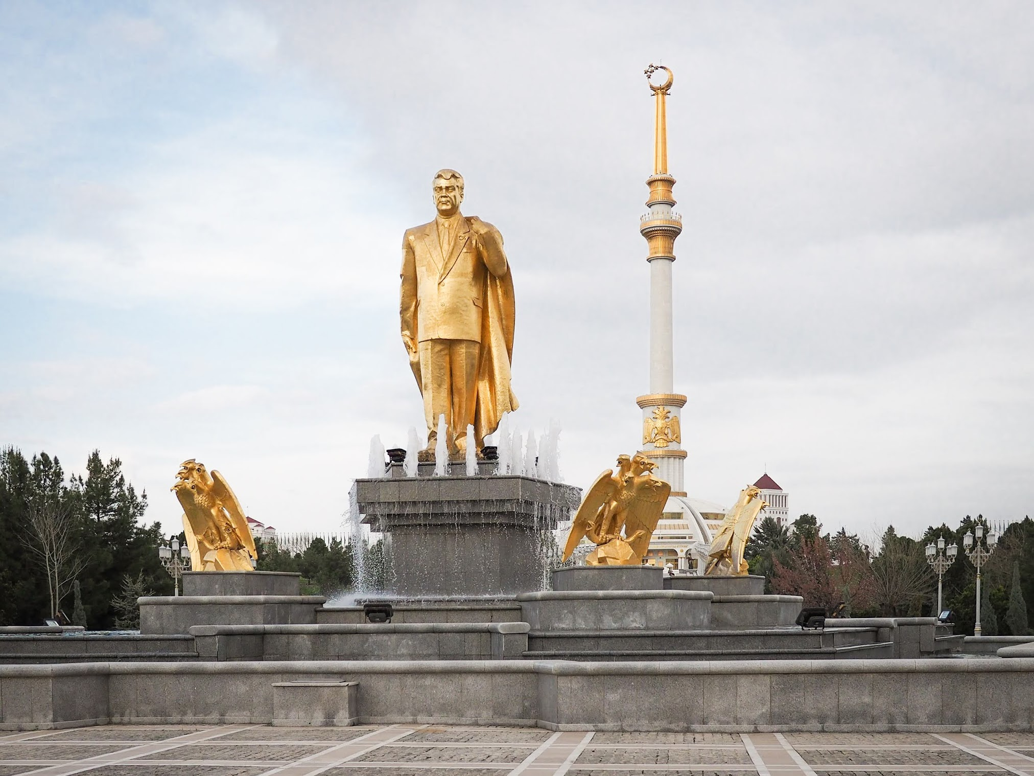 Turkmenistan Fact: there's a lot of gold in Ashgabat