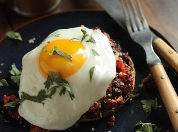 Chorizo Hash Stuffed Breakfast Mushrooms With Egg Recipe