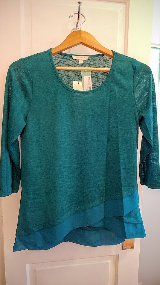September Stitch Fix Box, Skies Are Blue Kendruh Layered Hem Knit Top