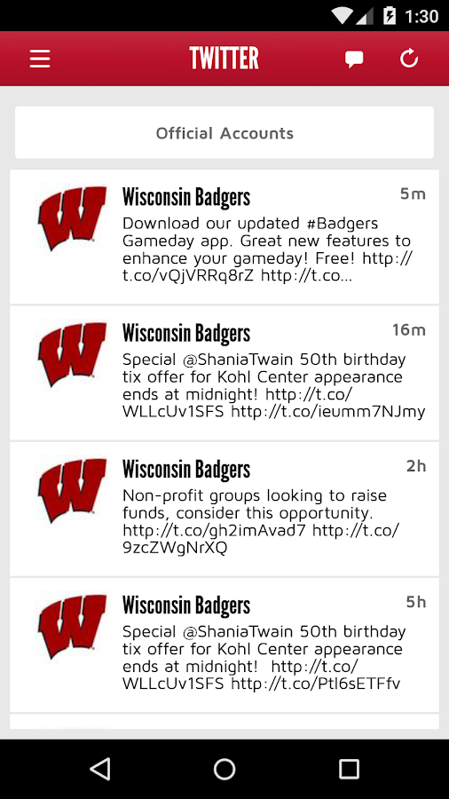Badger Gameday- screenshot
