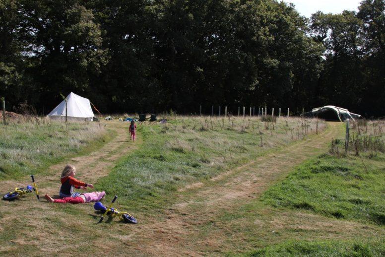 quiet peaceful Sussex campsite