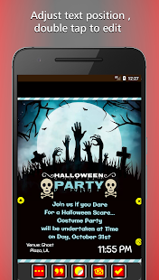 Halloween Party Invitation Card Maker - náhled
