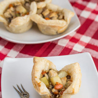 Mini Turkey Pot Pies with Puff Pastry.