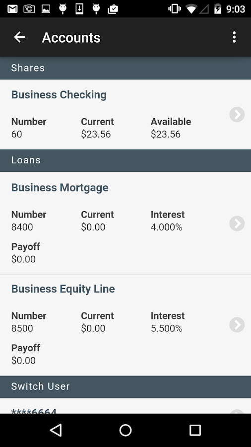 Western CT FCU Mobile- screenshot