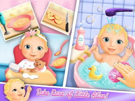 Sweet Baby Girl Doll House - Play, Care & Bed Time apk screenshot