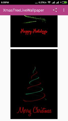 android Xmas Tree Live Wallpaper Screenshot 1
