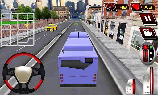 実際の都市近代バスの運転手
