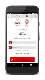 Vicenza WiFi- miniatura screenshot