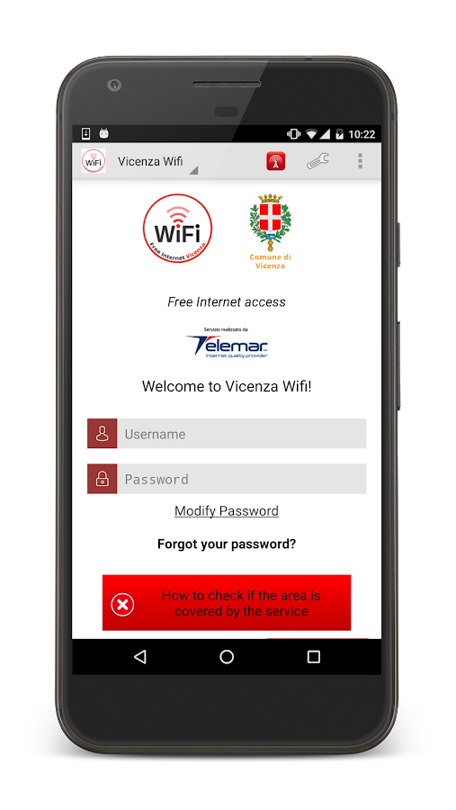 Vicenza WiFi- screenshot