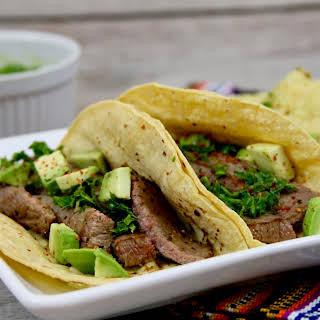 Churrasco Tacos with Chimichurri Sauce.