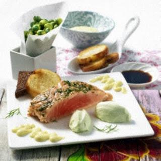Lachs mit Wasabi-Mousse