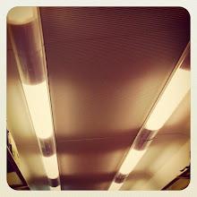 Photo: Beacons of light - train wagon ceiling #intercer #light #train #black #white #beacon #mistery #shadow #cool #life - via Instagram, http://ift.tt/ZkJfE1