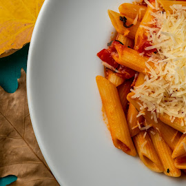 by Ewald Gruescu - Food & Drink Plated Food ( gruescu, sigma, ewald, plate, romania, food, cheese, nikon, foodporn, fall, leaves, pasta, timisoara, autumn, photography )