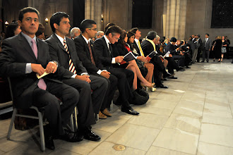 Photo: Sean Penn, Evo Morales and the other guests of honor at the NYC Hugo Chávez prayer service.