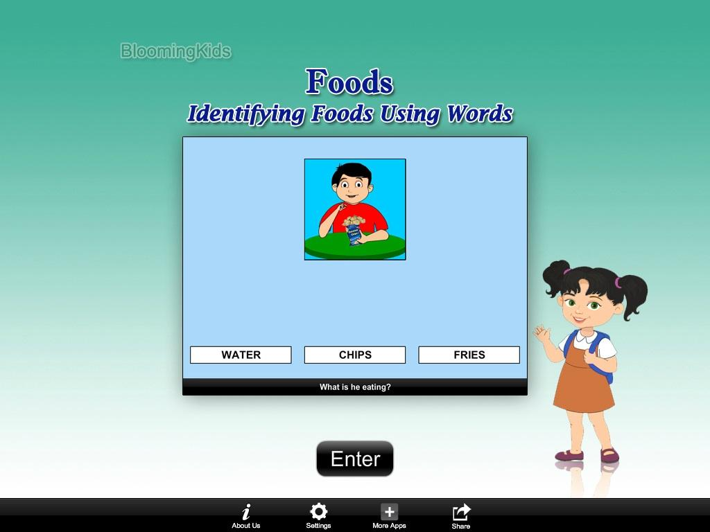 Identifying Foods Using Words Lite Version- screenshot
