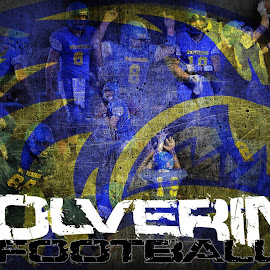 Wolverine Football Poster by TJ Morrison - Typography Captioned Photos