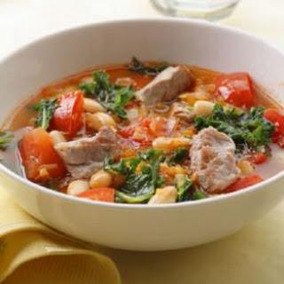 Pork, White Bean & Kale Soup.