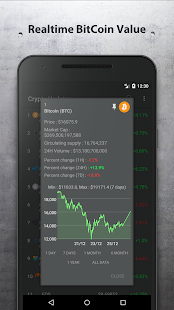 Crypto Updates - Realtime Value Tracker - náhled
