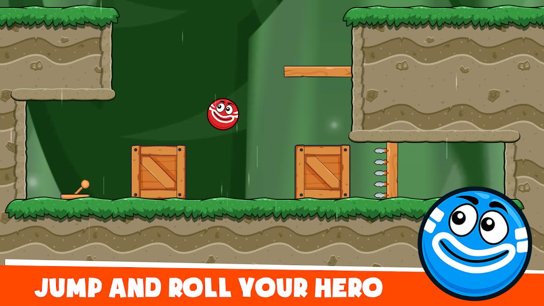 Hero Ball 4: Red Bounce Ball Hero Jump Love