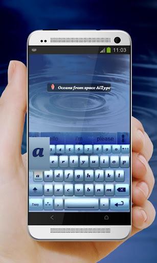 無料个人化Appの宇宙からの海 AiType テーマ|記事Game
