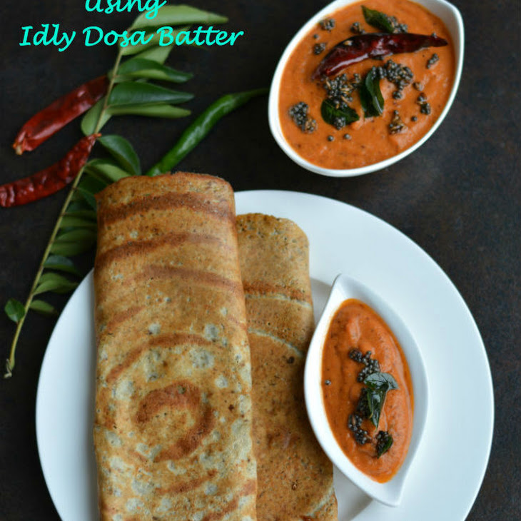 Mixed Sprouts Dosa Using Idly Dosa Batter