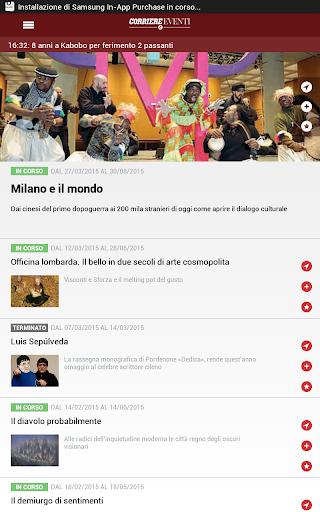 玩免費新聞APP 下載Corriere Eventi app不用錢 硬是要APP