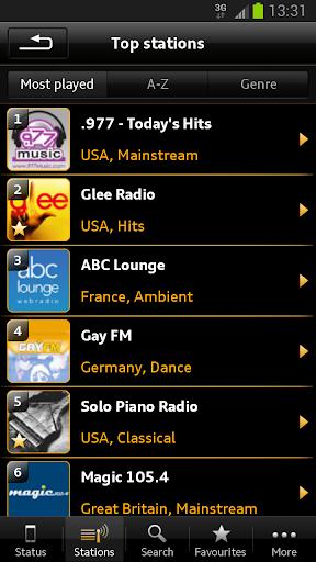 Audi Music Stream screenshot 2