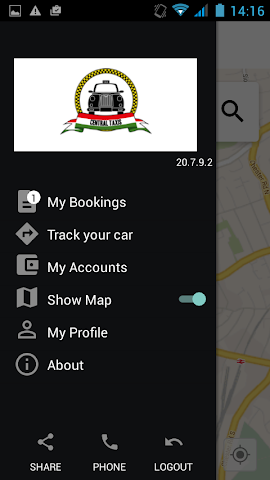 android Central Taxis Screenshot 1