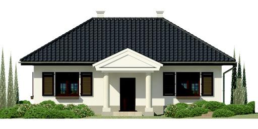 Dom przy Topolowej - Elewacja przednia