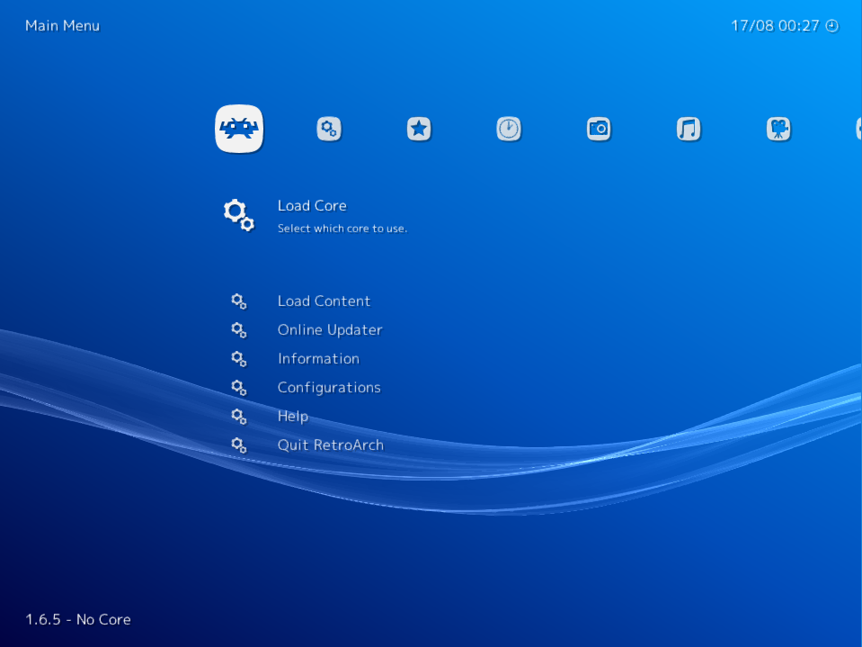 RetroArch: screenshot