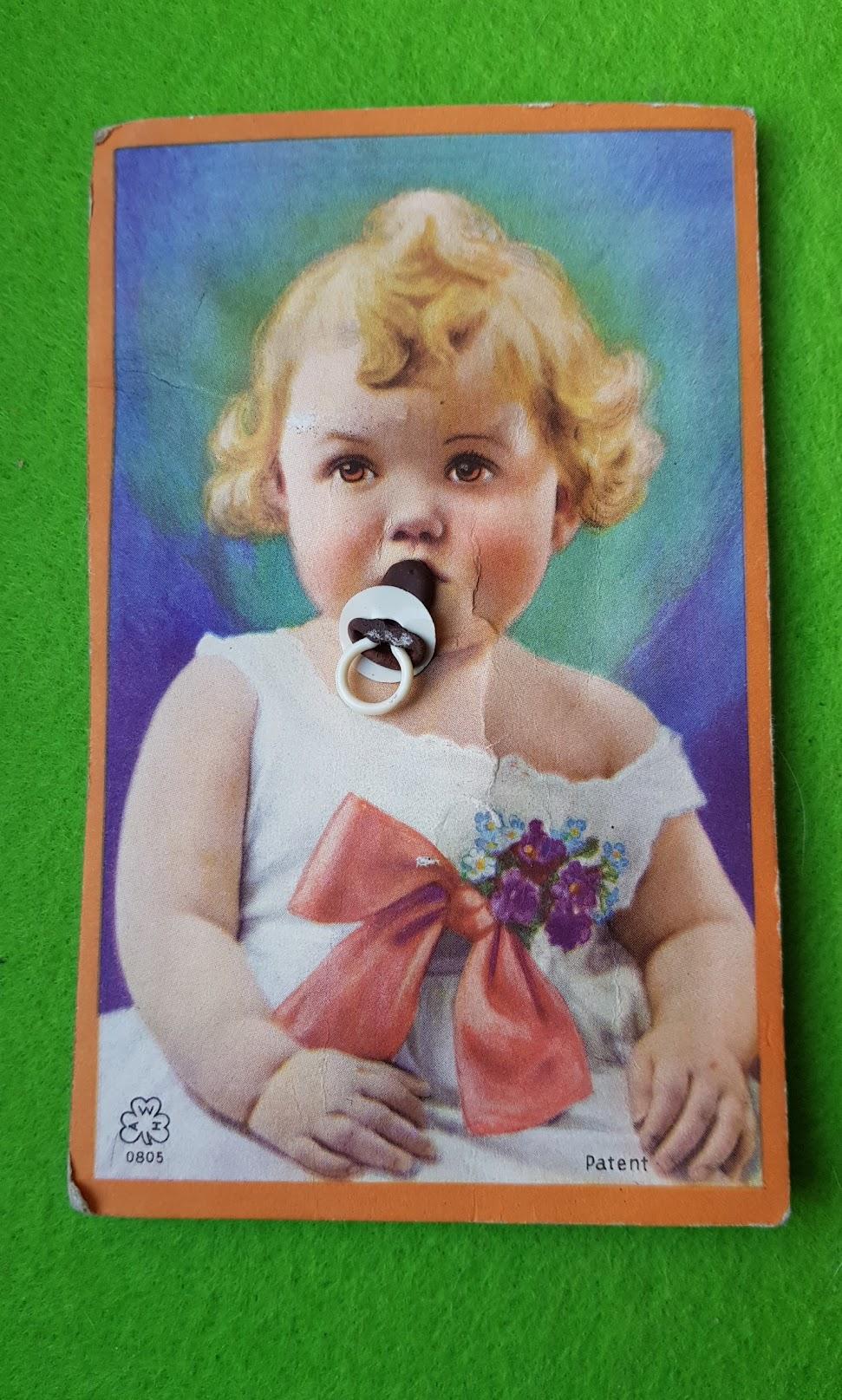 Baby-Postkarte von 1928