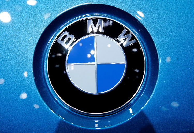 A BMW logo on a car at the 87th International Motor Show at Palexpo in Geneva, Switzerland. Picture: REUTERS/DENIS BALIBOUSE