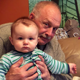 Grandpa and Me by Debbie Squier-Bernst - People Family