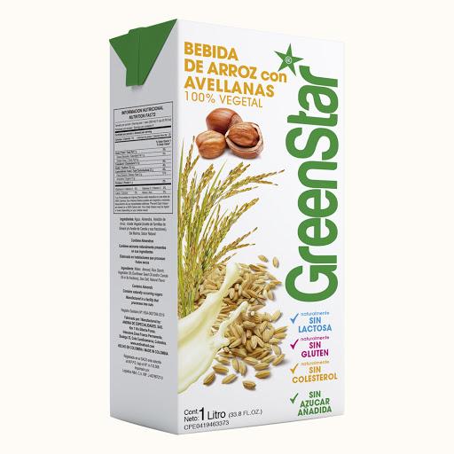 bebida greenstar arroz avellanas 1lt