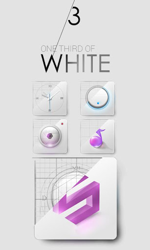 1 3 of White GO Launcher Theme