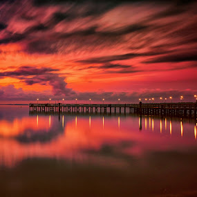Morning Magic by James Gramm - Landscapes Waterscapes ( sky, color, pier, reflections, virginia, long exposure, sunrise, usa, river,  )