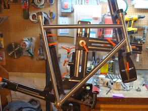 Photo: Seat, top and down tube are all mitered up.