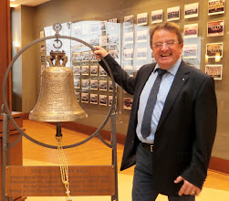 """Photo: To """"BANG"""" this bell will be heard all over the Rotary World!!"""
