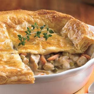 Chicken Pot Pie with Flaky Crust.