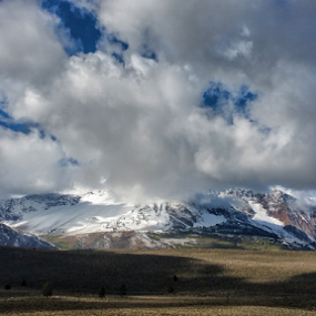 Highway Beauty by Shirley Prothero - Landscapes Cloud Formations ( blue sky, mountains, clouds, highway, landscape,  )