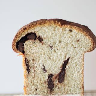 Yeast Raised Banana Dark Chocolate Bread.