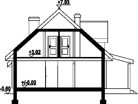 Osiek 83 dw - Przekrój