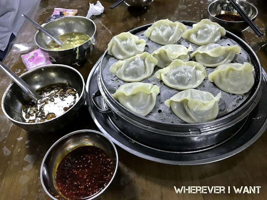Ilustrasi makanan lokal di Xi'an